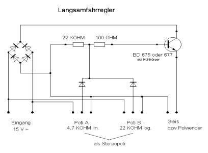 Modellbahn bezogene Elektronik